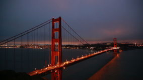 Golden Gate Bridge. At Dusk, San Francisco stock footage