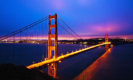 Golden Gate Bridge. At Dusk, San Francisco Stock Image