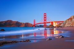 Golden Gate Bridge. At dusk, Sun Francisco Royalty Free Stock Image