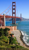 Golden gate bridge e o Presidio imagem de stock royalty free
