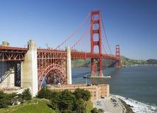 Golden gate bridge e punto forte, San Francisco, California, U.S.A. Fotografie Stock
