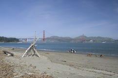 Golden gate bridge e punto forte, San Francisco, California, U.S.A. Fotografie Stock Libere da Diritti