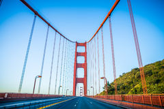 Golden gate bridge early morning in san francisco california Royalty Free Stock Images