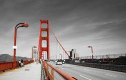 Golden gate bridge em branco e vermelho pretos, San Francisco, Califórnia, EUA Imagens de Stock Royalty Free