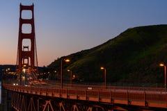 Golden gate bridge en Marin Headlands stock foto