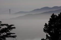 Golden gate bridge en Marin Headlands Landscape royalty-vrije stock foto's
