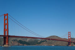 Golden Gate Bridge End to End Stock Photography
