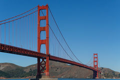Golden gate bridge-Ende zum Ende Stockfoto