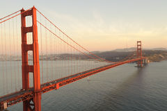 Golden Gate Bridge at evening Royalty Free Stock Photo