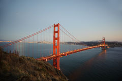 Golden Gate Bridge at evening Royalty Free Stock Photos