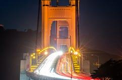Golden gate bridge evening commute traffic. Golden gate bridge evening commute  traffic Stock Photos