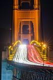 Golden gate bridge evening commute traffic. Golden gate bridge evening commute  traffic Royalty Free Stock Photo