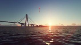 Golden gate bridge famoso, rendição 3d Imagem de Stock Royalty Free