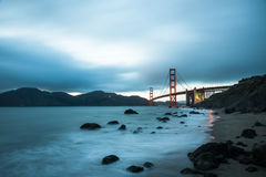 Golden Gate Bridge, famous landmark in San Francisco California Royalty Free Stock Images