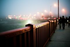 Golden Gate bridge fence Stock Images