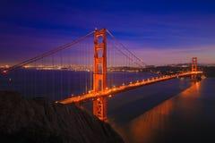 Golden gate bridge fermeture en janvier 2015 Photo libre de droits