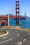 Golden gate bridge-Fietsweg Stock Afbeelding