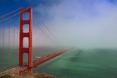 Golden Gate Bridge with Fog Royalty Free Stock Image