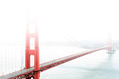 Golden Gate Bridge in the fog Stock Photos