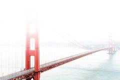 Golden Gate Bridge in the fog Stock Photos