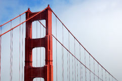 Golden Gate Bridge with Fog Royalty Free Stock Images