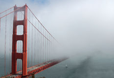 Golden Gate Bridge with Fog Stock Photos