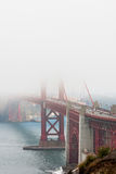 Golden Gate Bridge in fog Royalty Free Stock Images
