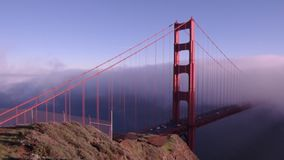 Golden Gate bridge in fog Stock Photo