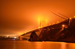 Golden Gate Bridge In The Fog Stock Image