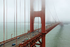 Golden Gate Bridge in fog , San Francisco Stock Image