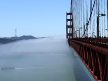 Golden Gate Bridge in the fog - San Francisco - USA royalty free stock image