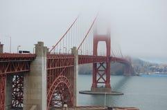 Golden Gate Bridge in the fog2 stock image