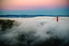 Golden Gate Bridge On A Foggy Day  Royalty Free Stock Images