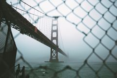 Golden Gate Bridge during a Foggy Weather Royalty Free Stock Photography