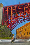 Golden Gate Bridge at Fort Point Stock Images