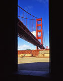 Golden Gate Bridge & Fort Point Stock Photography