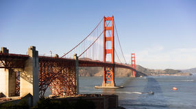 Golden Gate Bridge Fort Point San Francisco Bay California Stock Photography