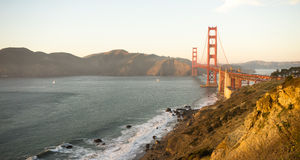 Golden Gate Bridge Fort Point San Francisco Bay California Stock Image