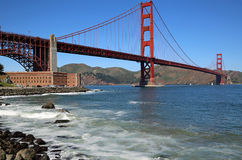 Golden Gate Bridge and Fort Point Stock Image