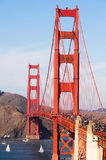Golden gate bridge-Fort-Punkt San Francisco Bay California Lizenzfreies Stockbild
