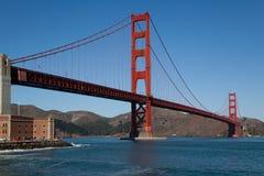 Golden gate bridge-Fortpunt Royalty-vrije Stock Afbeeldingen