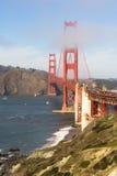 Golden Gate Bridge fortu punktu San Fransisco zatoka Kalifornia Zdjęcie Stock