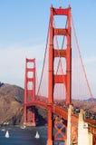 Golden Gate Bridge fortu punktu San Fransisco zatoka Kalifornia Obraz Royalty Free