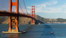 Golden Gate Bridge fortu punktu San Fransisco zatoka Kalifornia Zdjęcia Royalty Free