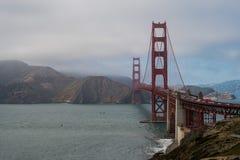 Golden gate bridge från batteriCranston område 2 Royaltyfri Foto