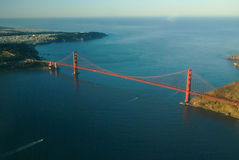 Golden Gate Bridge From The Air Stock Photo