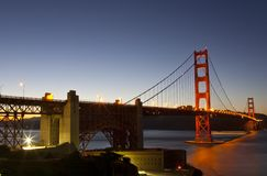 Golden Gate Bridge Full View Royalty Free Stock Photography