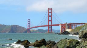 Golden gate bridge glorioso ed oceano Fotografie Stock
