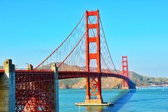 Golden Gate Bridge. In San Francisco California USA West Coast of Pacific Ocean royalty free stock image