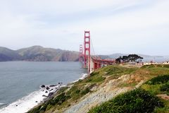Golden Gate Bridge and Headlands Royalty Free Stock Photography